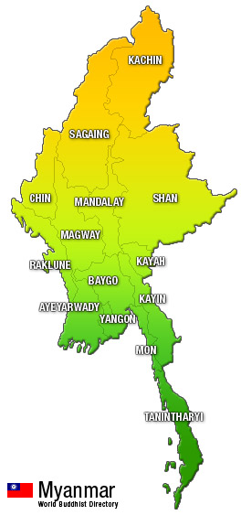 Myanmar: States/Divisions & Townships Overview Map - Myanmar ...